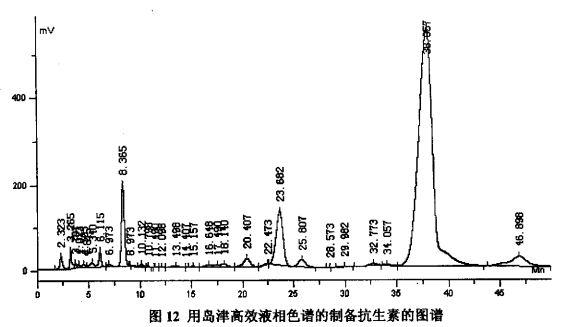 抗生素19-1的分离纯化及生物活性的初步鉴定